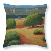 Hoover Tower In Sight Throw Pillow