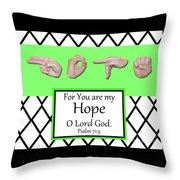 Hope - Bw Graphic Throw Pillow