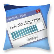 Hope Download Concept. Throw Pillow