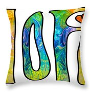 Hope For Life Abstract Inspirational Artwork By Omaste Witkowski Throw Pillow