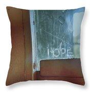 Hope In Prison Door Throw Pillow