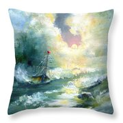 Hope In The Storm I Throw Pillow
