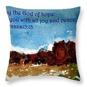 Hope Joy And Peace Throw Pillow