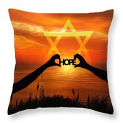 Hope - Painted Throw Pillow