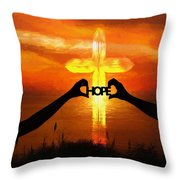 Hope - Painting Throw Pillow