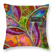 Hope Springs Anew Throw Pillow