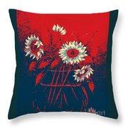 Hope Sunflowers  Throw Pillow