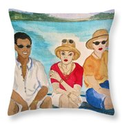 Hope Town Ferry  Throw Pillow