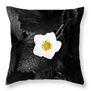 Hope Tucked Away In The Petals  Throw Pillow
