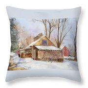 Hope Valley Sugar House Throw Pillow