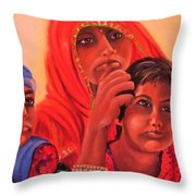 #hopeful In India Throw Pillow