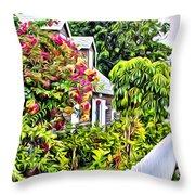Hopetown Gardens Throw Pillow