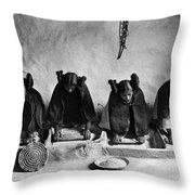 Hopi Grinding Grain, C1906 Throw Pillow