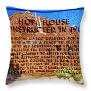 Hopi House And Dedication Plaque Throw Pillow