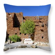 Hopi House Grand Canyon Arizona Throw Pillow