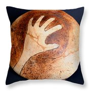 Hopi Jar Fragment Throw Pillow
