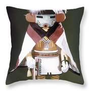Hopi Kachina Doll Throw Pillow