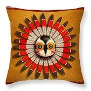 Hopi Owl Mask Throw Pillow