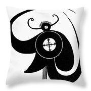 Hopi Sky God Throw Pillow by Granger