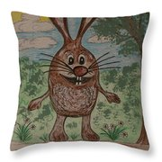 Hopper Doodle Bolak Throw Pillow