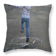 Hopscotch Queen Throw Pillow