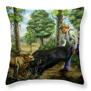 Horace's Hunt Throw Pillow