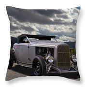Hord Hot Rod Speedster Throw Pillow