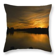 Horicon Lake, Lakehurst, Nj Throw Pillow
