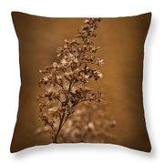 Horicon Marsh - Wildflower Golden Glow Throw Pillow