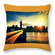 Horizon Setting Throw Pillow