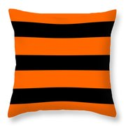 Horizontal Black Inside Stripes 03-p0169 Throw Pillow