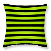 Horizontal Black Inside Stripes 09-p0169 Throw Pillow