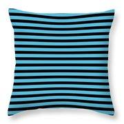 Horizontal Black Inside Stripes 18-p0169 Throw Pillow