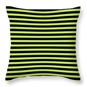 Horizontal Black Outside Stripes 18-p0169 Throw Pillow