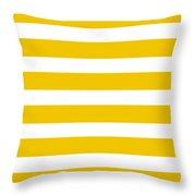 Horizontal White Inside Stripes 05-p0169 Throw Pillow