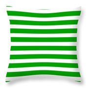 Horizontal White Inside Stripes 09-p0169 Throw Pillow
