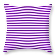 Horizontal White Outside Stripes 30-p0169 Throw Pillow