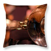 Horn At Rest Throw Pillow