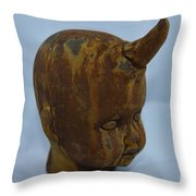 Horned Baby Throw Pillow