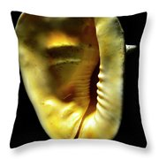 Horned Helmet Shell Cassis Cornuta Throw Pillow