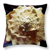 Horned Helmet Shell Top Logarithmic Spiral Throw Pillow