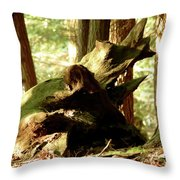 Horned Tree Throw Pillow