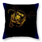 Hornet Macro Throw Pillow