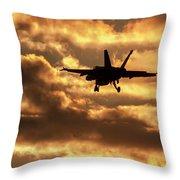 Hornet Sunset Throw Pillow