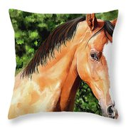 Horse 2 August 2016 Throw Pillow