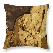 Horse Above Stones Throw Pillow