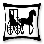Horse And Buggy Vector Throw Pillow