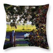 Horse And Flower Throw Pillow