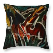 Horse And Man Throw Pillow