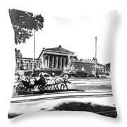 Horse And Parliament Throw Pillow